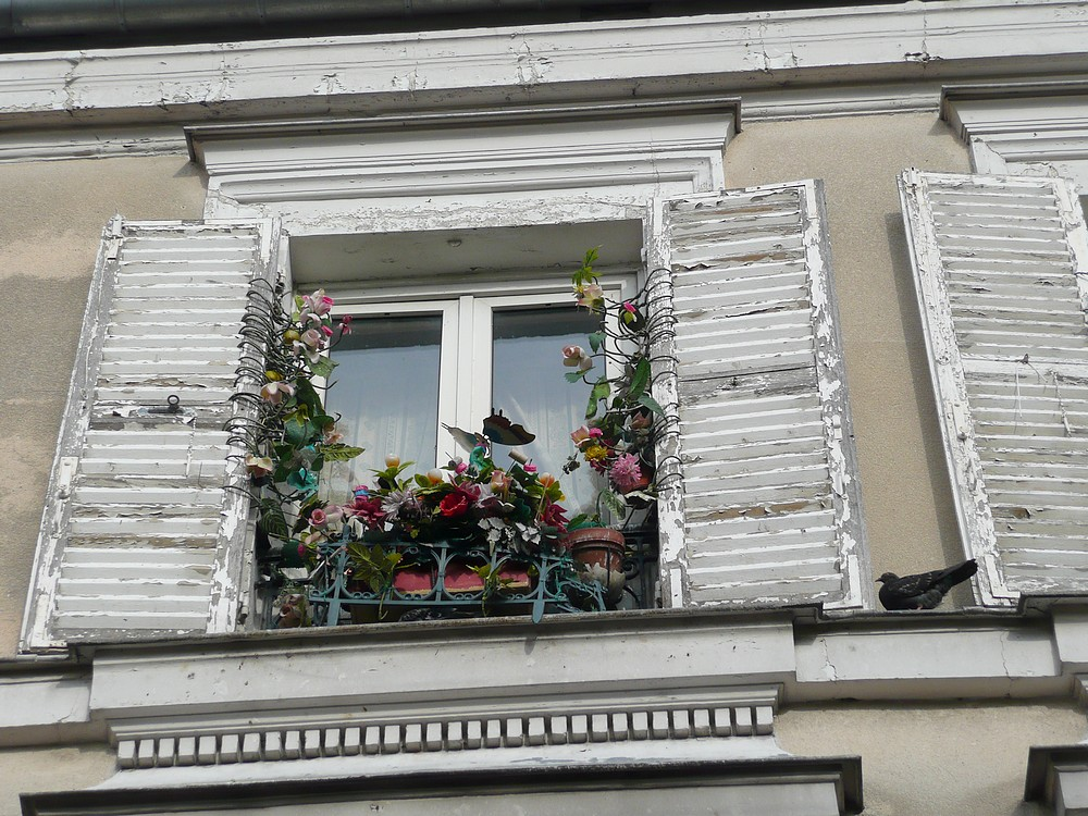 Fenster am Place du Tertre